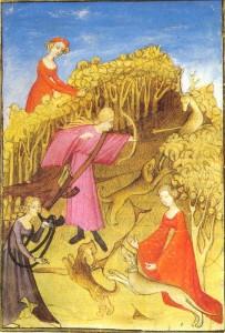 Medieval_women_hunting