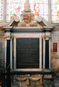 Laney memorial in Ely cathedral - Taken by E L Johnston